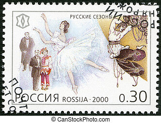 RUSSIA - CIRCA 2000: A stamp printed in Russia shows Tours...
