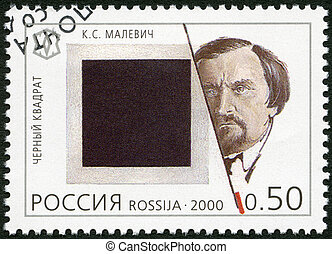 RUSSIA - CIRCA 2000: A stamp printed in Russia shows Kasimir...