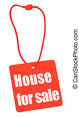 house for sale tag