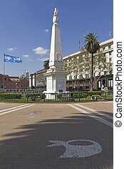 The Plaza de Mayo (English: May Square) is the main square...