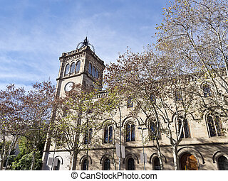 University of Barcelona, Spain. - Historical building of the...