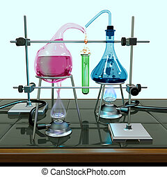 Impossible chemistry experiment - Illustration of a...