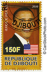 DJIBOUTI - CIRCA 2010: A stamp printed in Republic of...