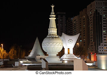 Mabaakhur- traditional arabian incense burner monument in...