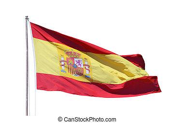 Spanish national flag isoliert over white background