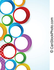 Bright background with circles. Abstract colorful...