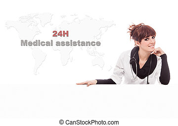Conceptual photo of Medical Assistance - Conceptual photo of...