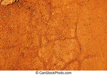 Red earth or soil background - Typical tropical laterite...