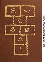 hopscotch - indian version of hopscotch, called ikki-dukki