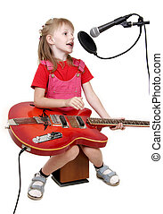 girl in audio studio