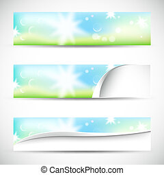 banners with natural colors,lights and bokeh
