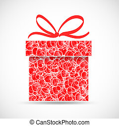 abstract gift with heart texture