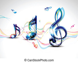 abstract colorful musical word background vector...
