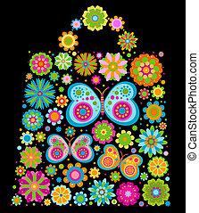 flowers bag shape