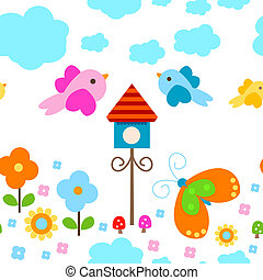 seamless background - colorful seamless background for kids