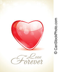 abstract glossy love background with sparkle vector...