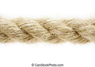 Rope Detail - Macro shot of a twisted rope isolated on a...