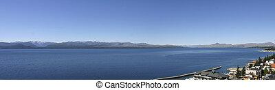 Panorama view of Nahuel Huapi Lake, close to Bariloche,...
