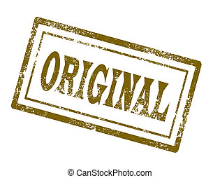 Original stamp on white background vector illustration
