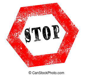 Stamp stop on white background vector illustration