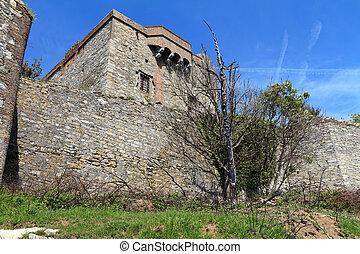 Pruin Fortress, Genova, Italy - Puin Fortress, Genova, Italy...
