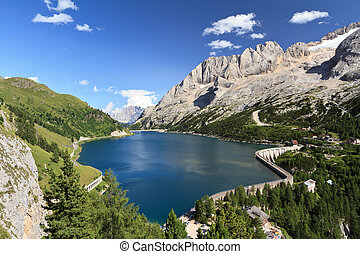 Dolomites - Fedaia lake and pass