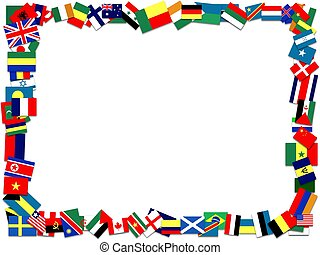 Flag frame - Illustration of a frame made of many flags