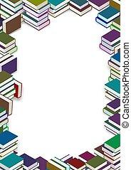 Book frame - Frame made of many books