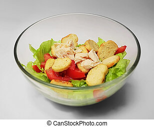 salat - fresh salat isolated on a light background