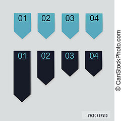 Set of labels with place for text. Vector illustration.