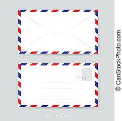 封筒, 切手, ベクトル, イラスト