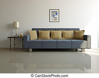 Livingroom with sofa and a table - Livingroom with sofa and...