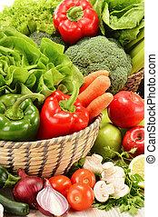 cru, legumes, Composição, variedade