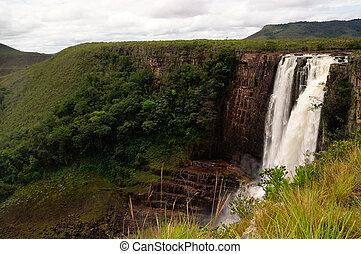 Salto Aponwao in Gran Sabana, Venezuela - Magnificent...
