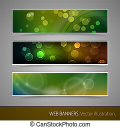 Abstract Banner With Bokeh. Vector Illustration.