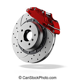 Brake disc isolated on a white background