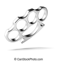 Brass knuckles isolated on a white background