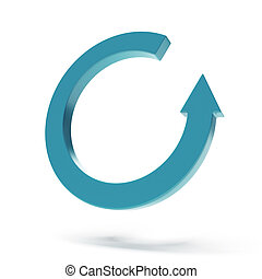 Circular arrow pictogram isolated on a white background