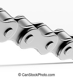 Close up of Bicycle chain isolated on a white background