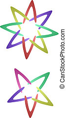 star - five-pointed star and eight-pointed star with...