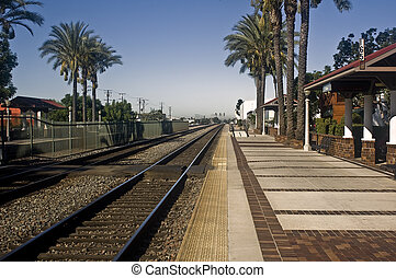 Train Tracks - These are train tracks out of Fullerton,...
