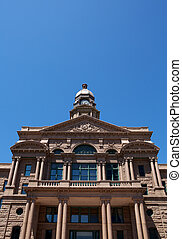 Historic Tarrant County Courthouse, Fort Worth, Texas with...