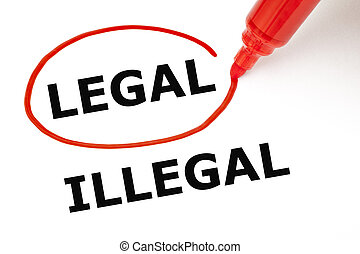 Legal or Illegal with Red Marker - Choosing Legal instead of...