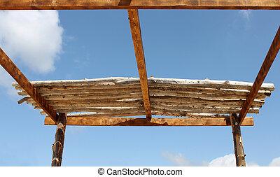 Wooden Roof in Progress