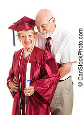 Husband Congratulates College Graduate Wife