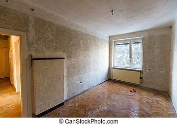 apartment in need of renovation - old apartment, symbol...