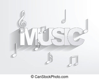 Music Background - Music background with musical notes...