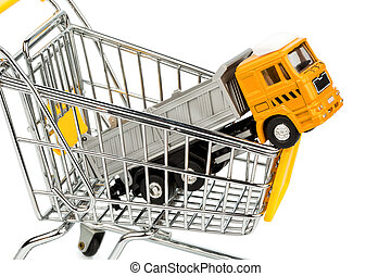 cart and trucks - a cart and a truck. invest in new vehicles...