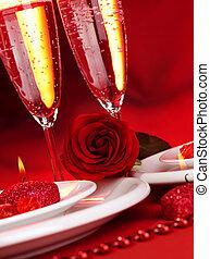 Valentine day dinner