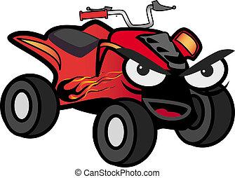 ATV car - Vector illustration of an ATV car with an...